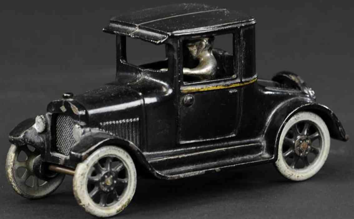 arcade cast iron toy car chevrolet utility coupe black