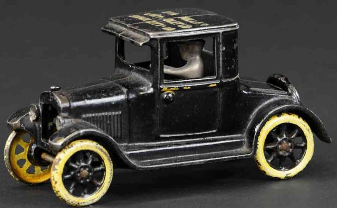 arcade  cast iron toy car chevrolet utility coupe black