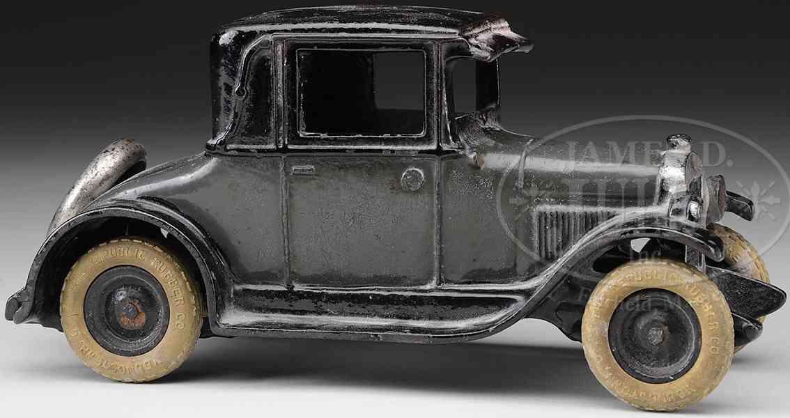 arcade spielzeug gusseisen auto chevy coupe schwarz grau