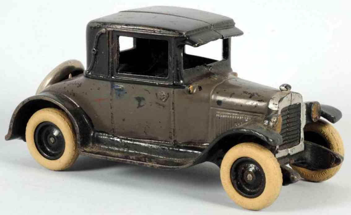 arcade cast iron toy car chevy coupe automobile gray black