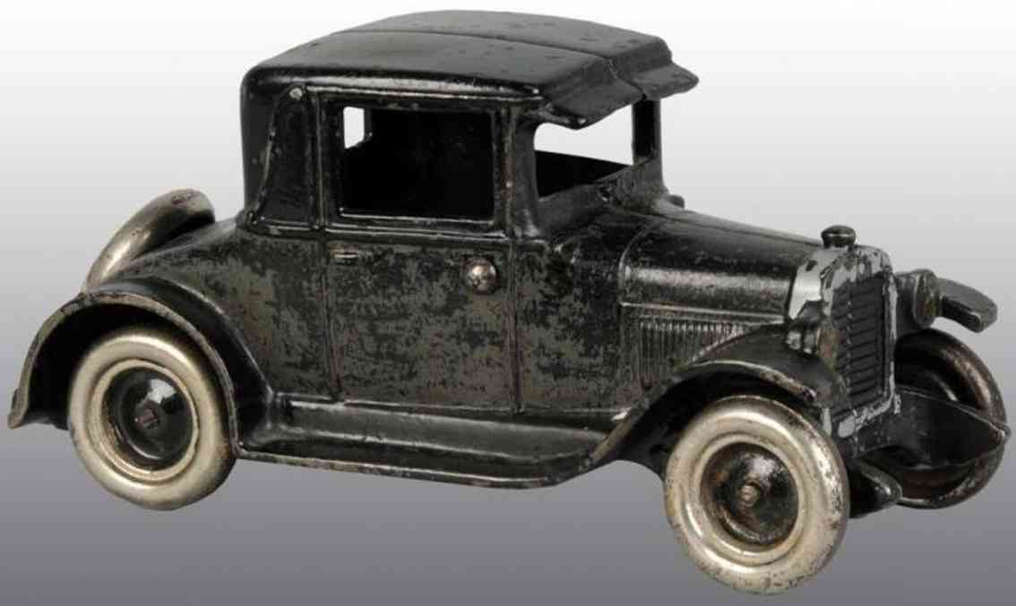 arcade cast iron toy car chevy coupe black