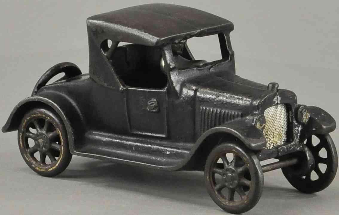 arcade spielzeug gusseisen auto chevrolet roadster schwarz fahrer