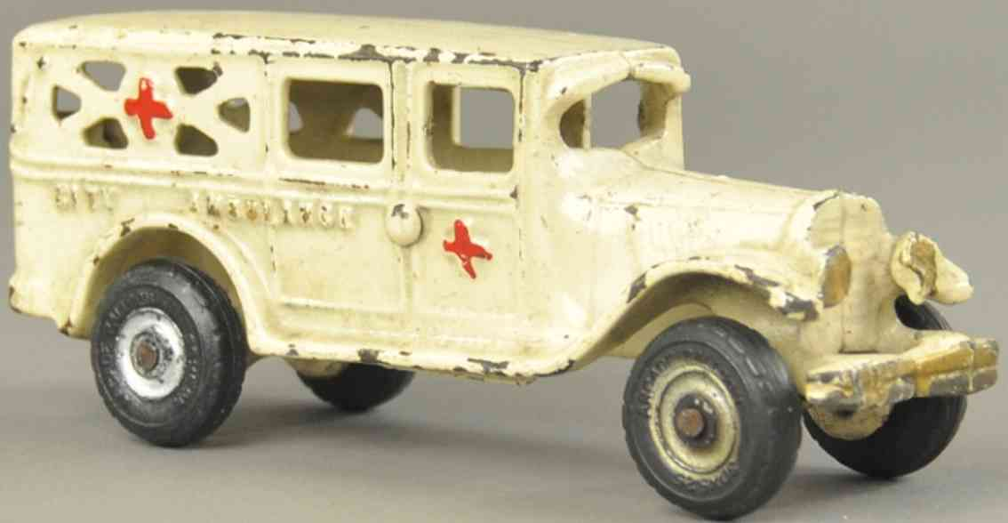 arcade spielzeug gusseisen stadt-krankenwagen weiss