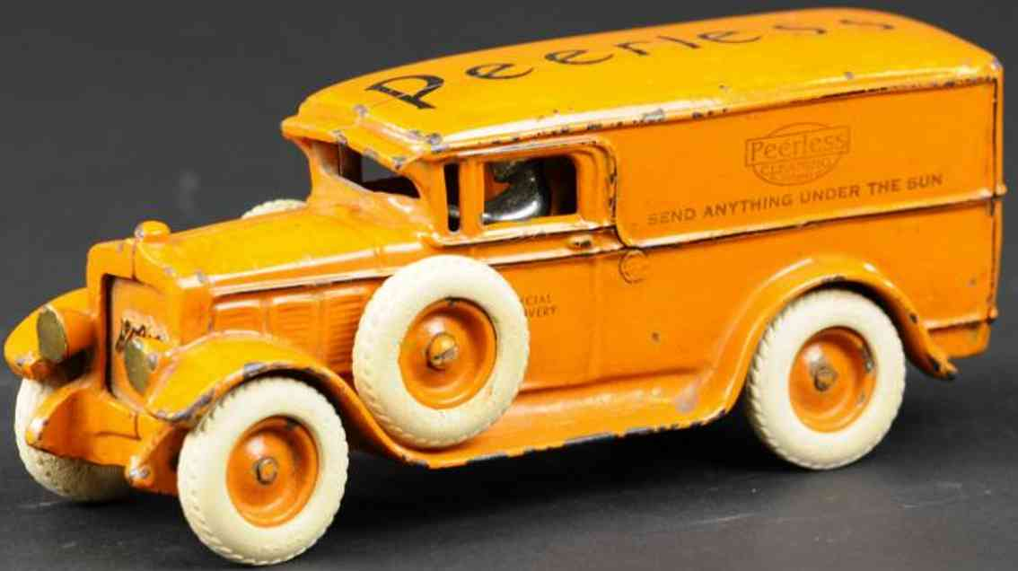 arcade gusseisen lieferwagen orange pearless