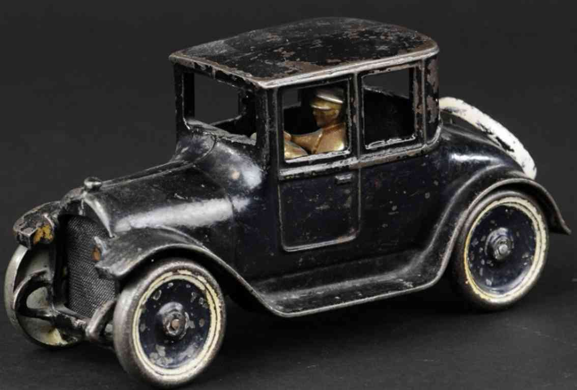 arcade cast iron toy car dodge coupe  black driver
