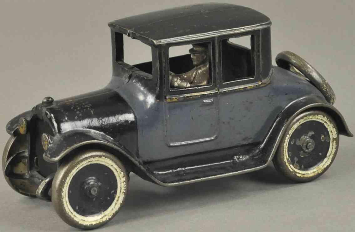 arcade  spielzeug gusseisen auto dodge coupe dunkelblau schwarz 1922