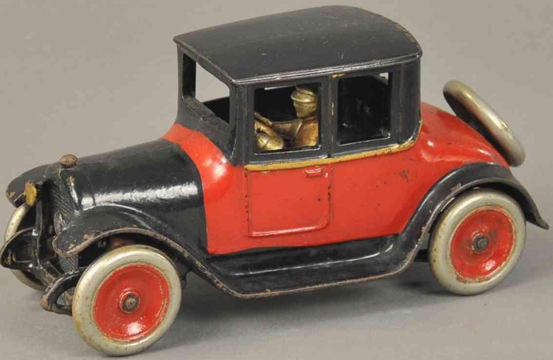 arcade spielzeug gusseisen auto dodge coupe rot schwarz