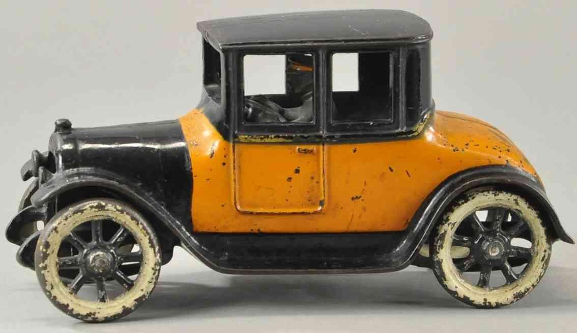 arcade spielzeug gusseisen auto dodge coupe schwarz orange