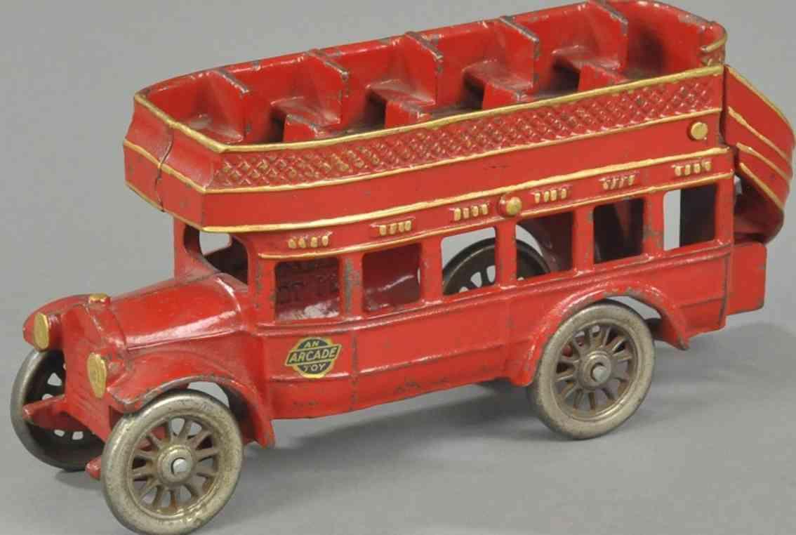 arcade spielzeug gusseisen doppeldecker bus rot