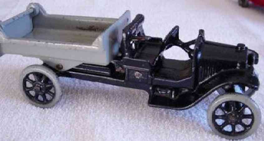 arcade 204 gusseisen kipplastwagen schwarz grau