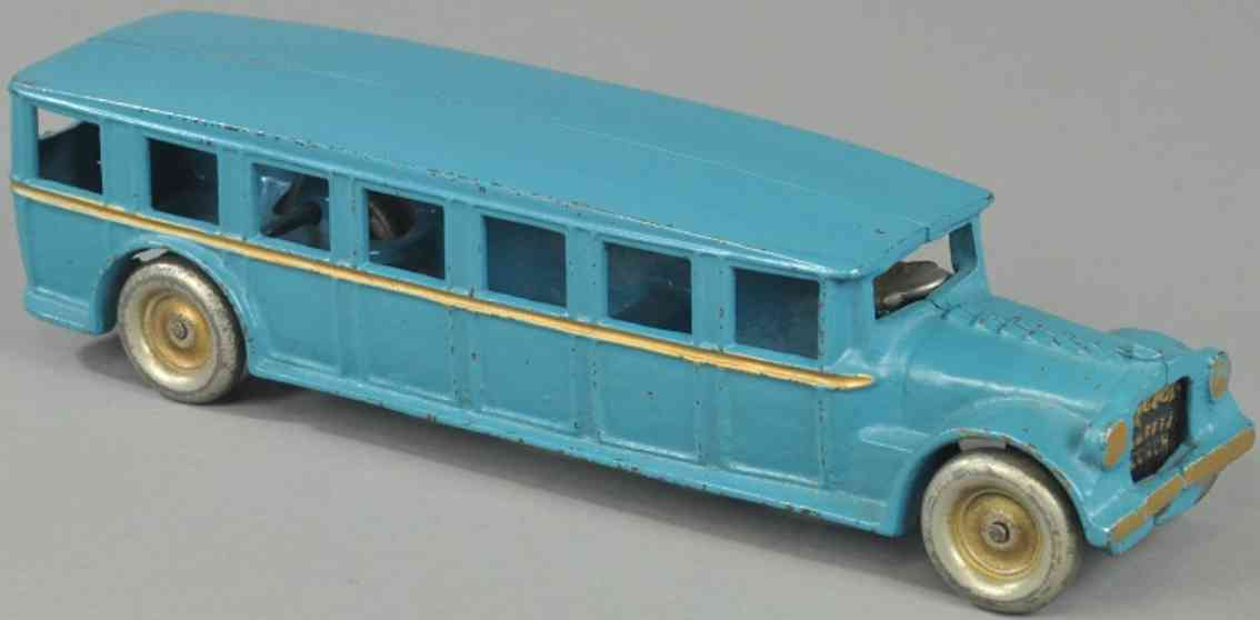 arcade spielzeug gusseisen fagebol bus  blau