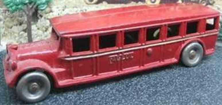 arcade spielzeug gusseisen bus