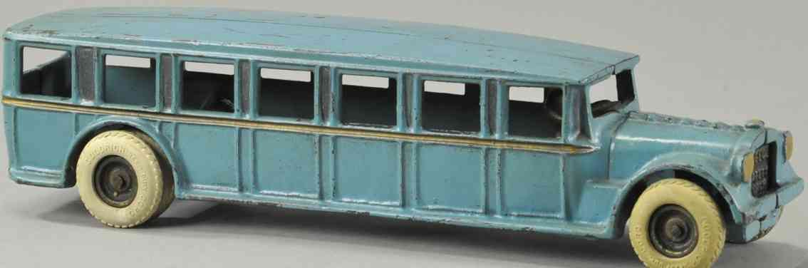 arcade gusseisen fageol sicherheitsbus blau fahrer