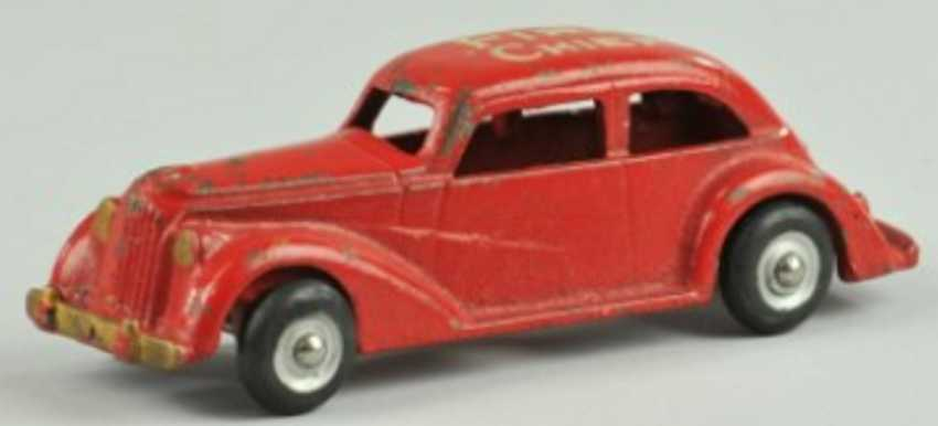 arcade cast iron toy fire chief car