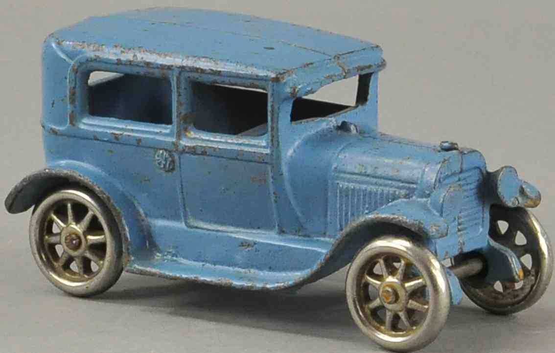 arcade spielzeug gusseisen auto ford coupe modell t blau