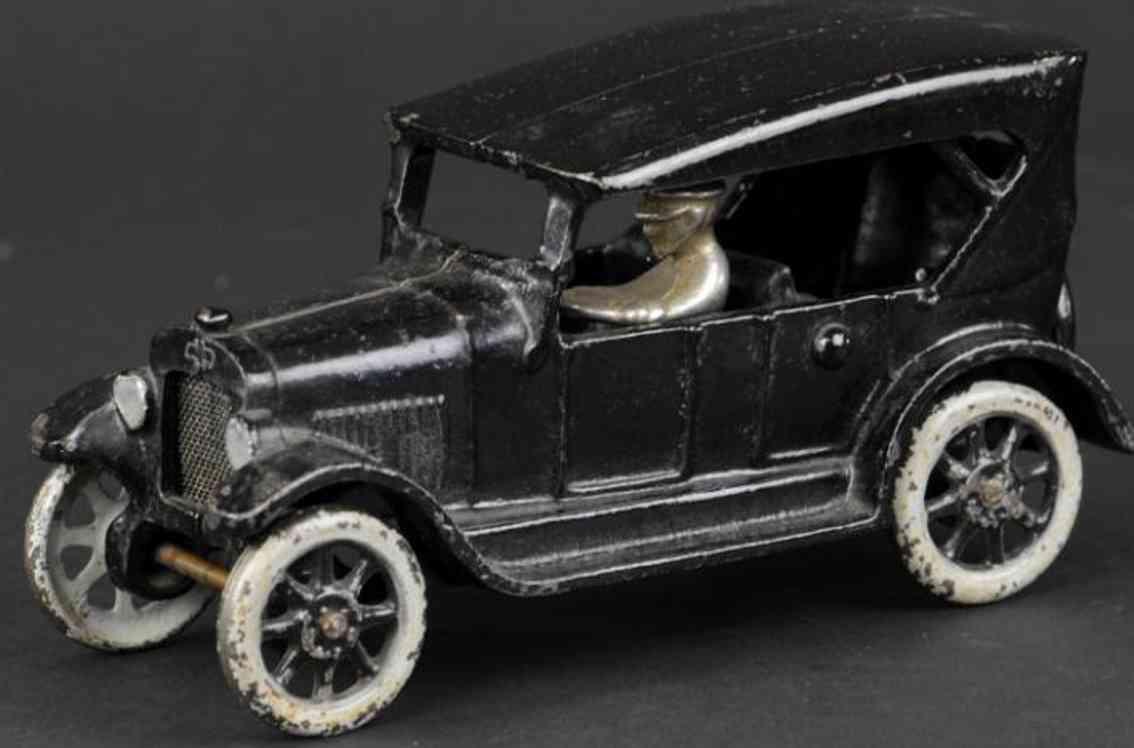 arcade spielzeug gusseisen auto ford modell t tourenwagen schwarz