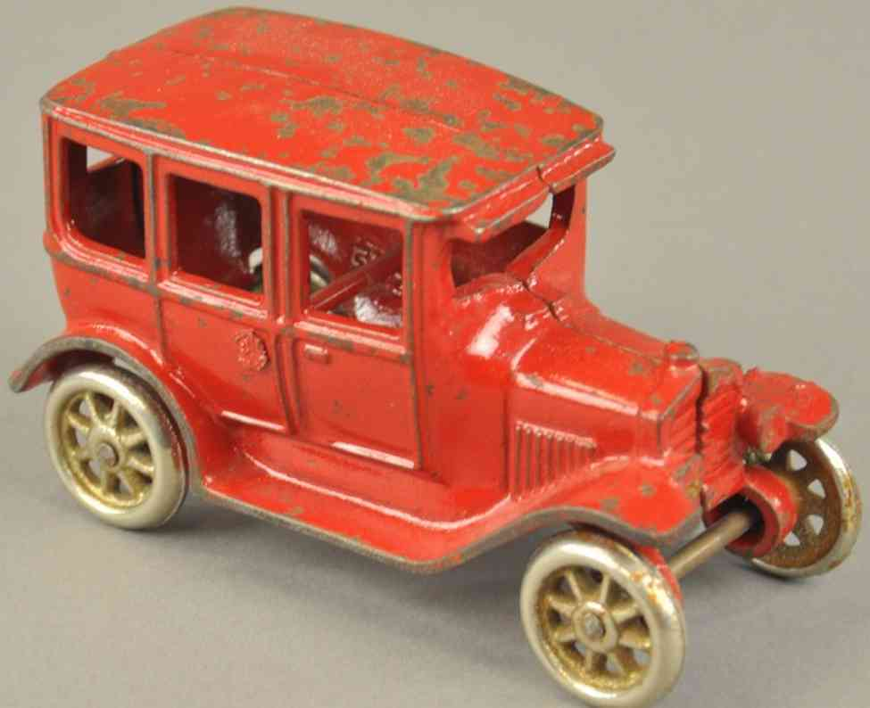 arcade spielzeug gusseisen auto ford modell fordor rot