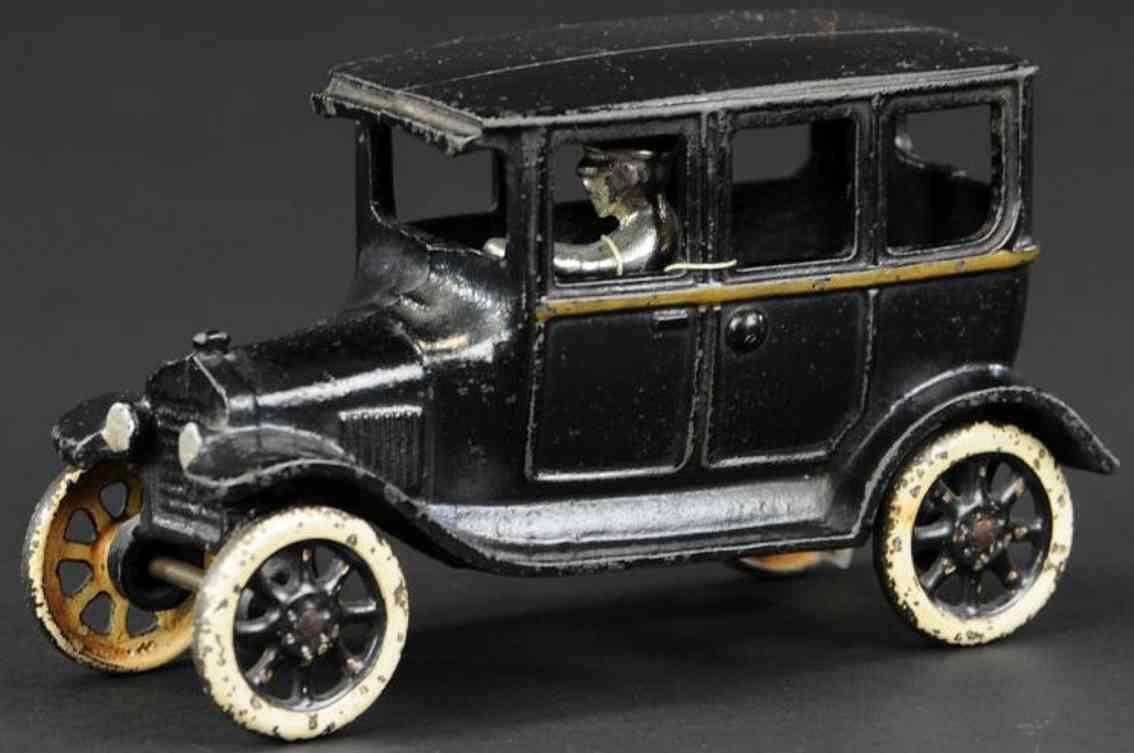 arcade gusseisen auto schwarz vernickelter fahrer