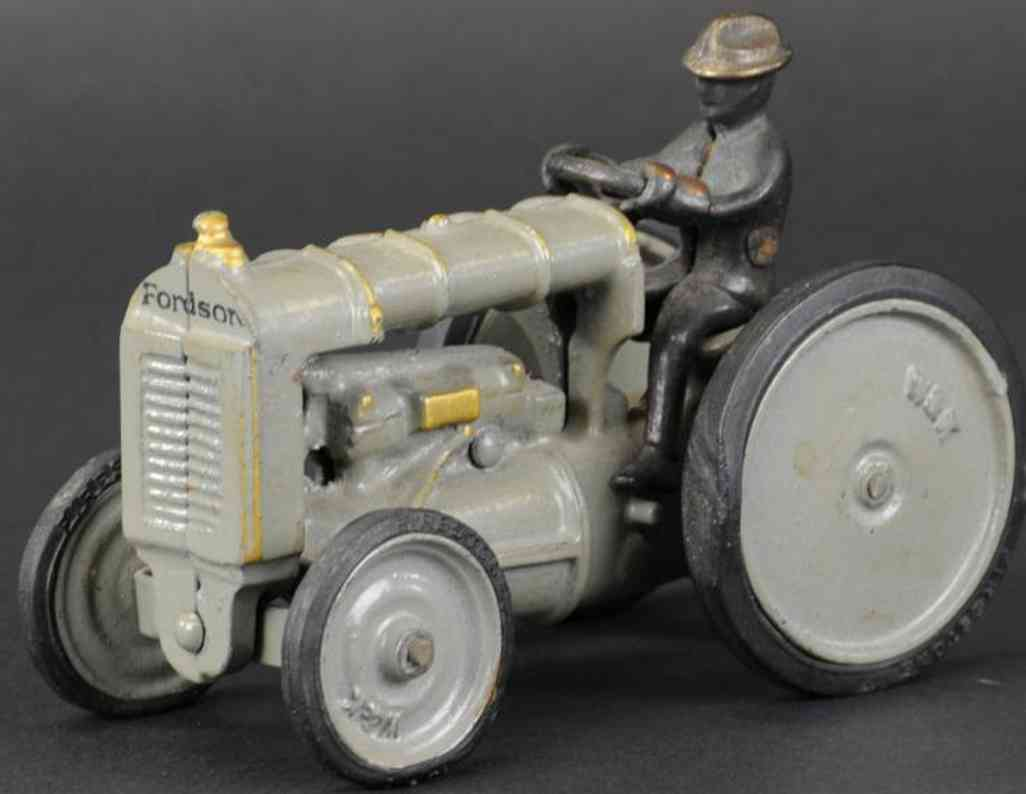 arcade gusseisen fordson tractor w&k white and kales grau