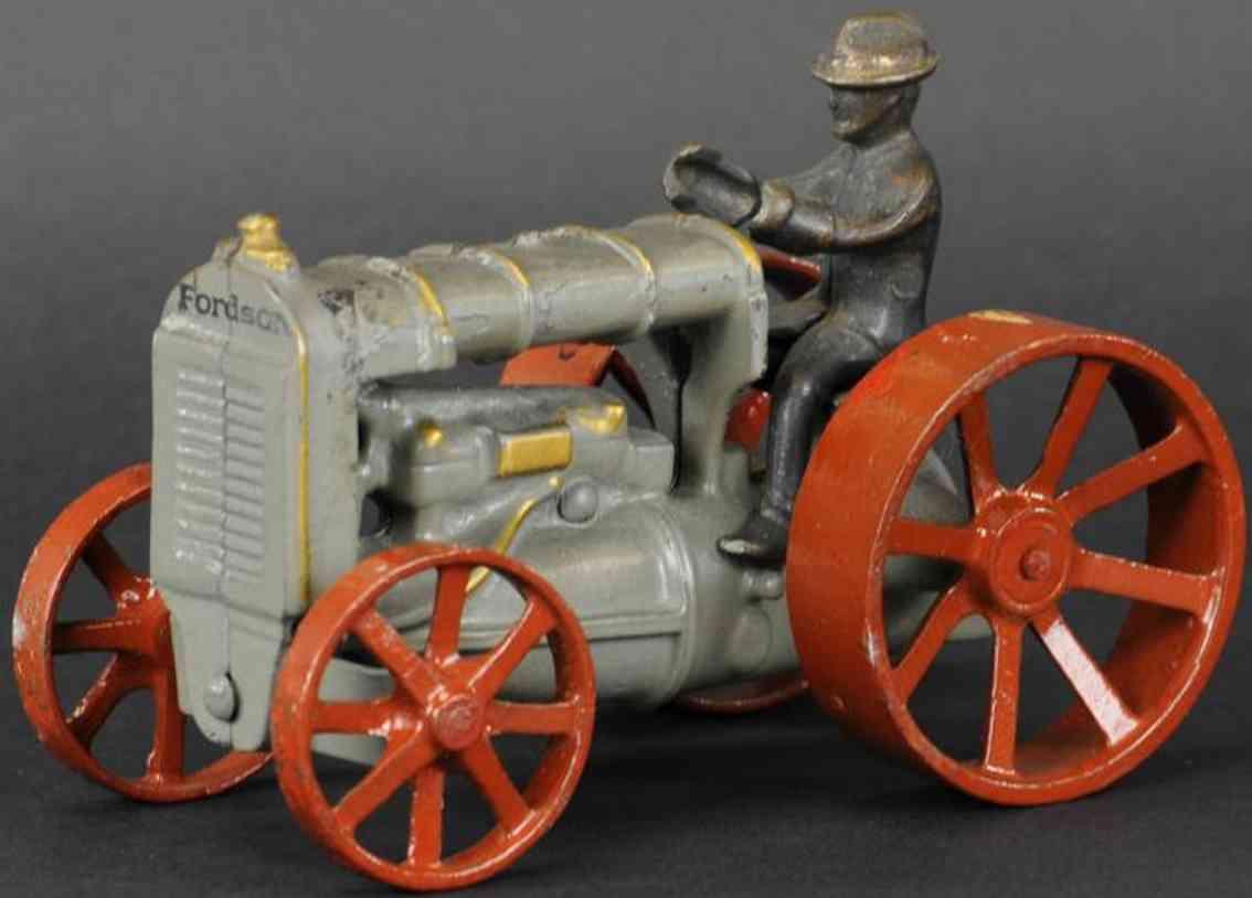 arcade spielzeug gusseisen forson traktor grau rot