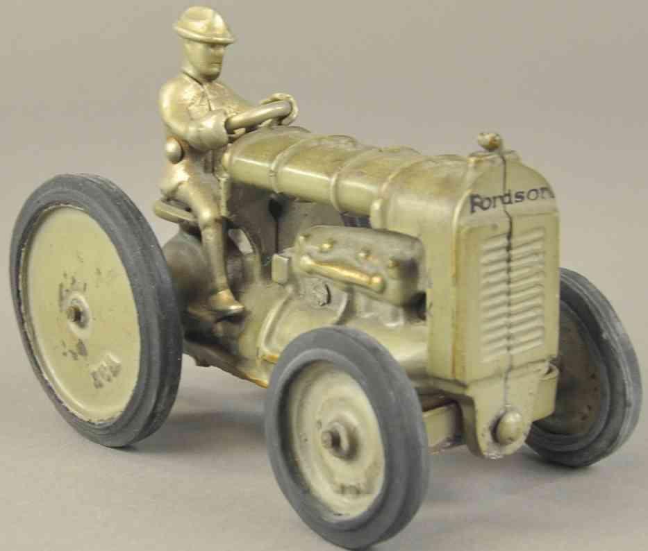 arcade spielzeug gusseisen fordson traktor grau w&k