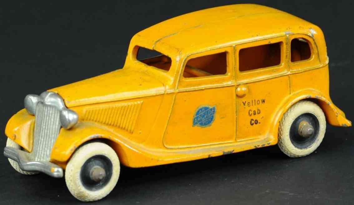 arcade spielzeug gusseisen auto ford taxi orange