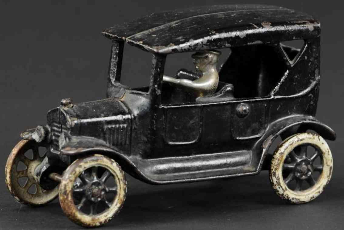 arcade gusseisen auto ford tourenwagen schwarz fahrer