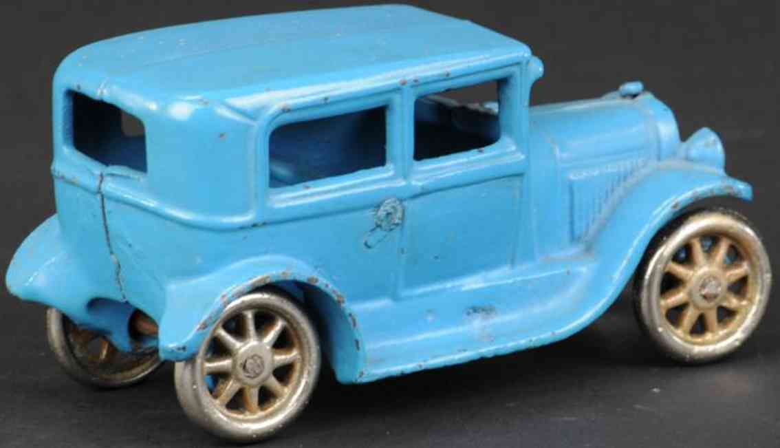 arcade spielzeug gusseisen auto ford tudor blau