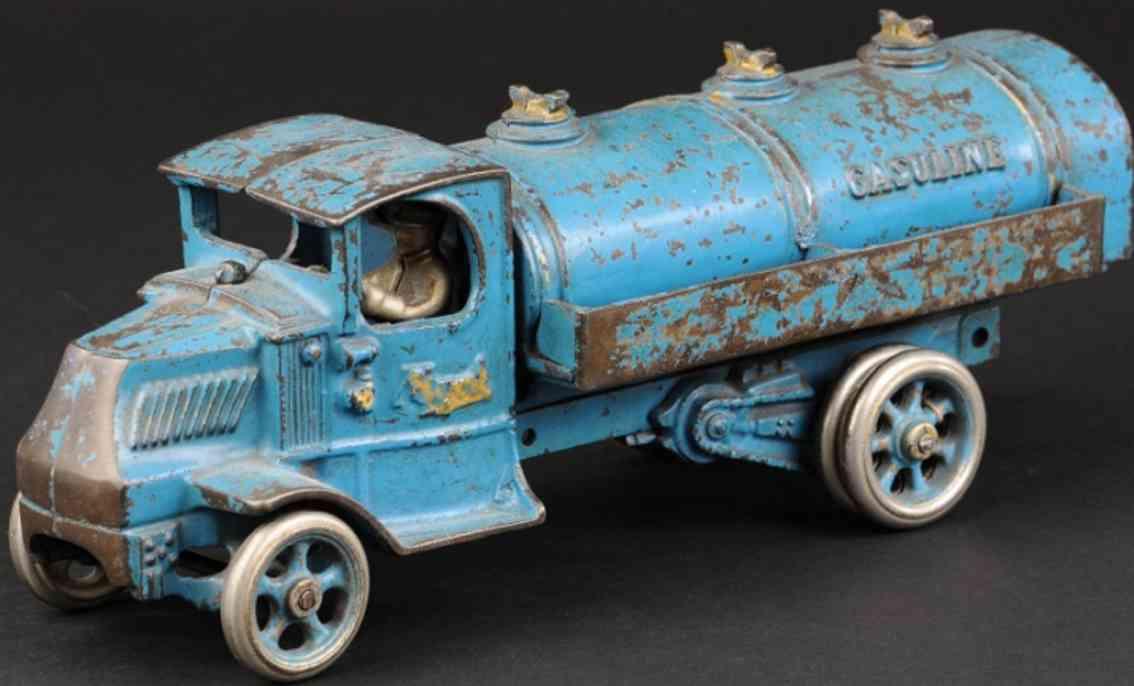 arcade spielzeug gusseisen mack tanklastwagen blau