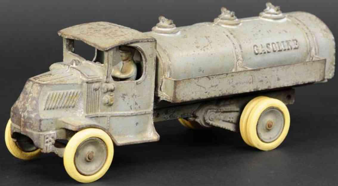 arcade spielzeug gusseisen mack tanklastwagen grau