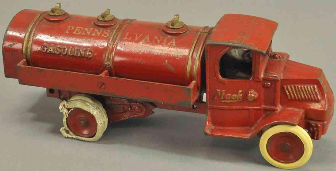 arcade spielzeug gusseisen pennsylvania tanklastwagen rot