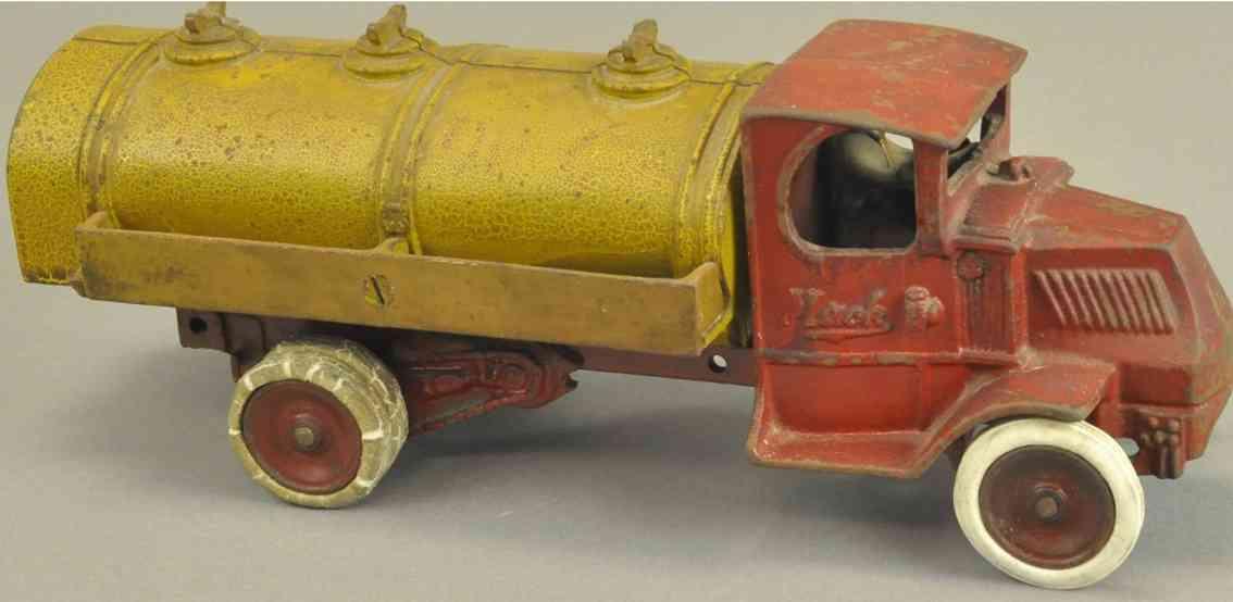arcade spielzeug gusseisen mack tanklastwagen rot gelb