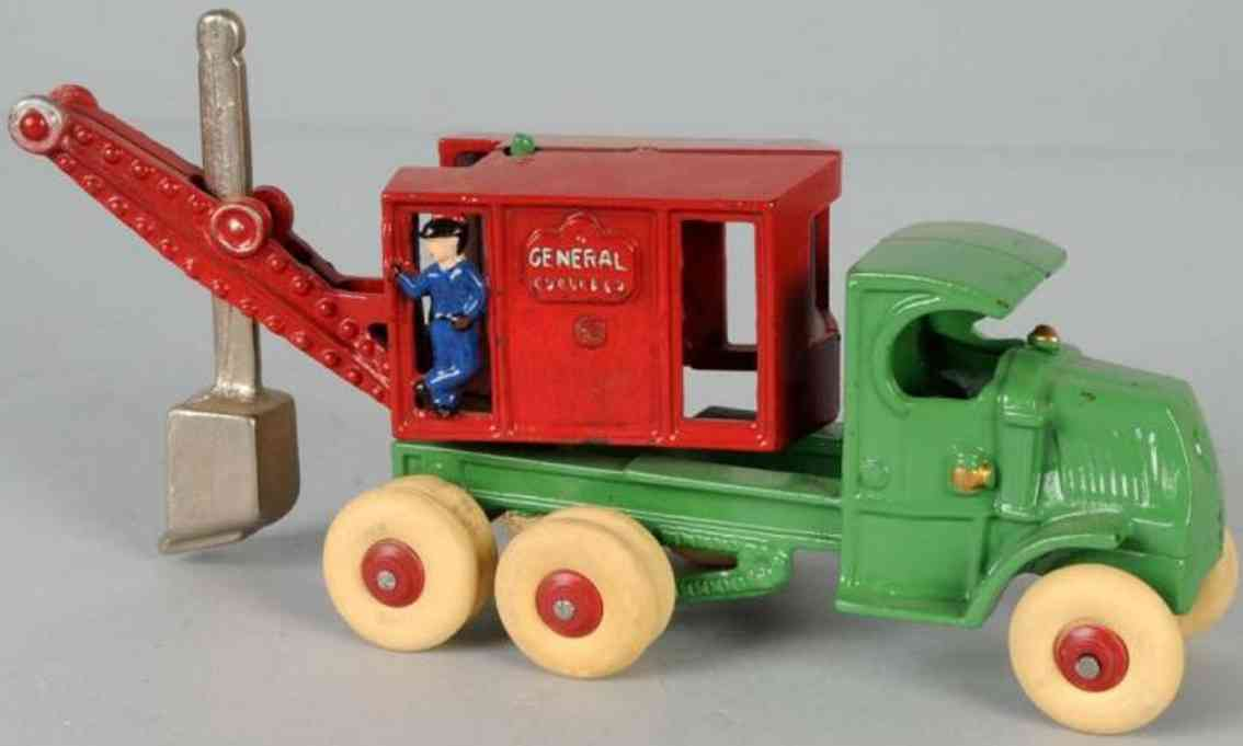 Arcade General digger truck of cast iro