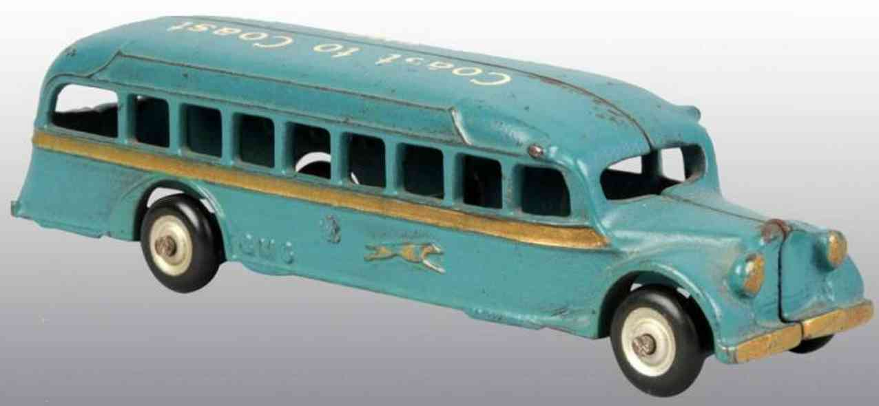 arcade cast iron toy bus cast iron bus gmc