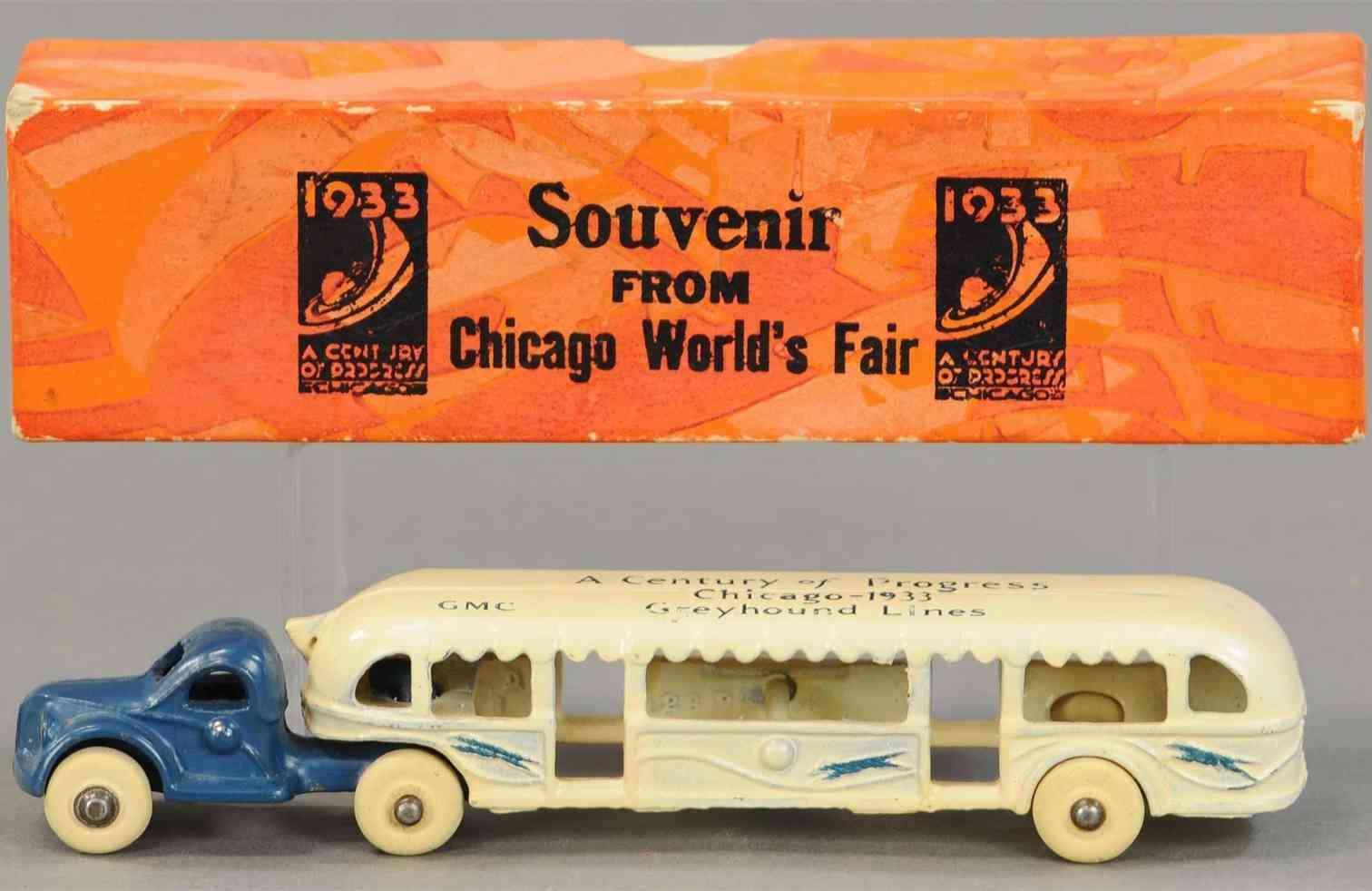 arcade gusseisen greyhound bus kleinste version