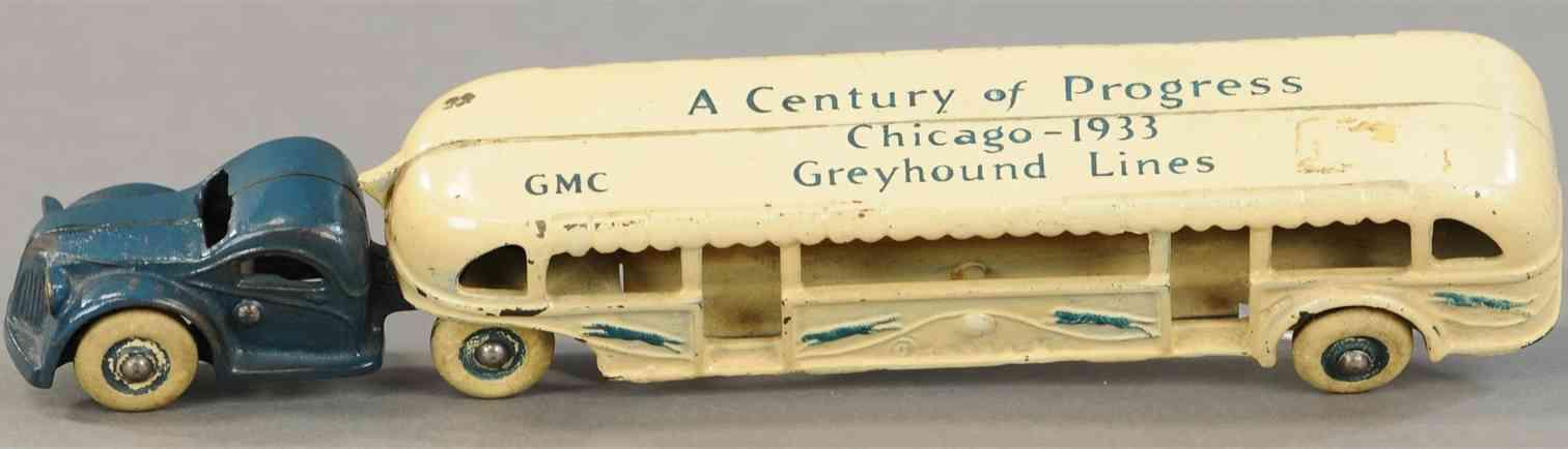 arcade 4350 gusseisen bus greyhound chicago 1933