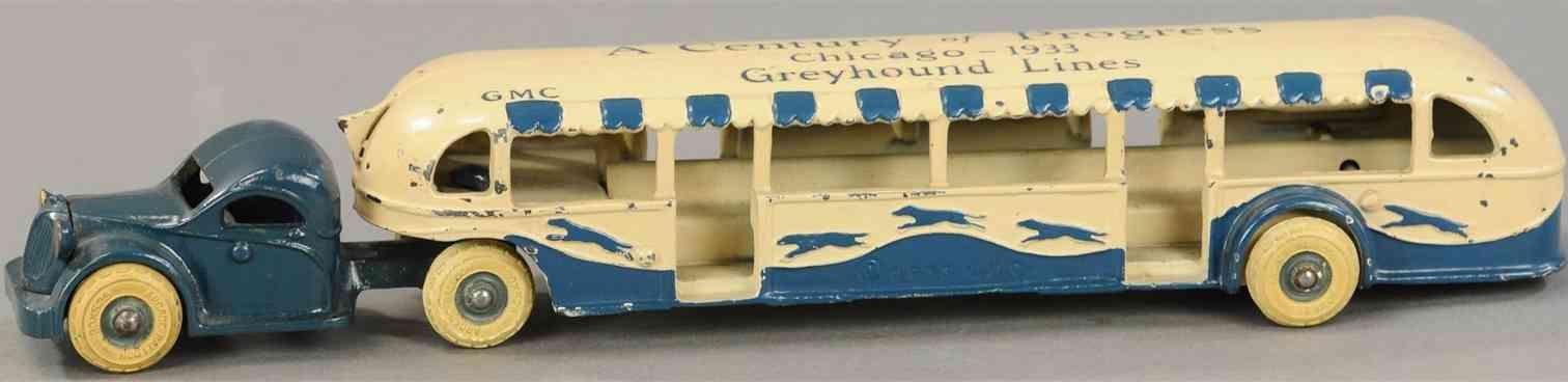 arcade gusseisen  a century of progress chicago 1933 greyhound lines gmc