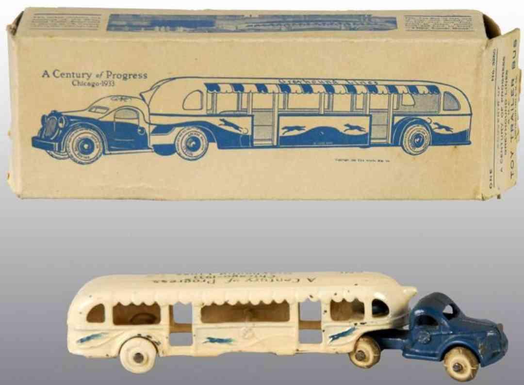 arcade gusseisen bus greyhound a century of progress chicago