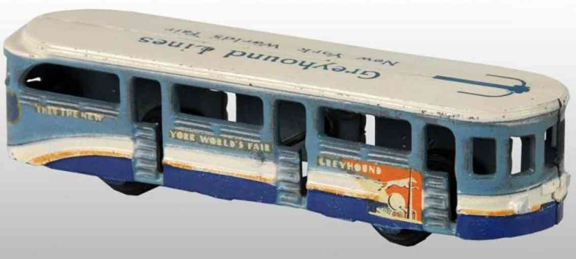 arcade spielzeug gusseisen bus greyhound