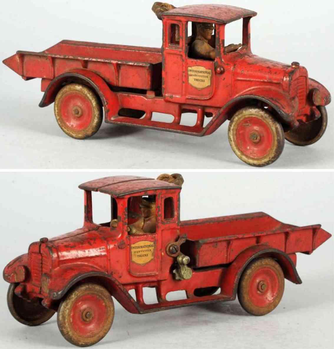 arcade spielzeug gusseisen lastwagen in rot international harvester