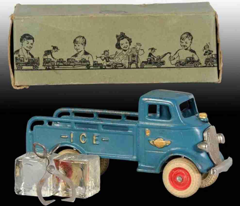 arcade 1933 spielzeug gusseisen eiswagen blau