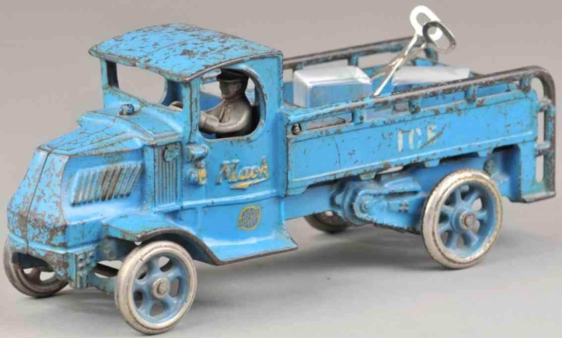 arcade spielzeug gusseisen mack eiswagen blau