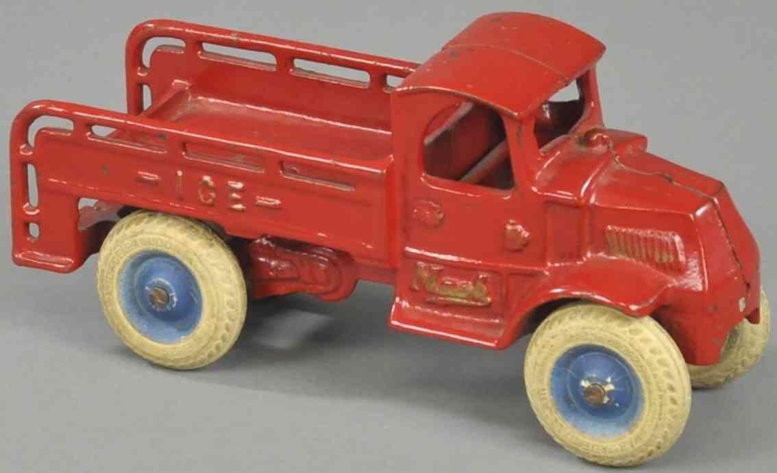 arcade spielzeug gusseisen studebaker eiswagen rot