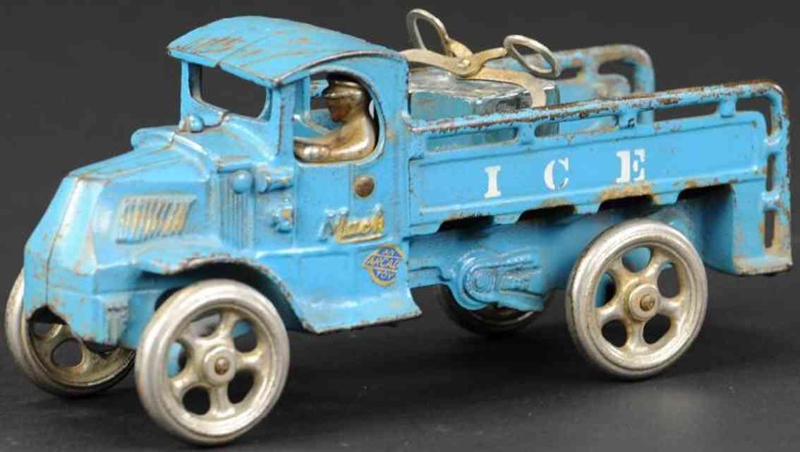 arcade gusseisen lastwagen blau eisblock zange