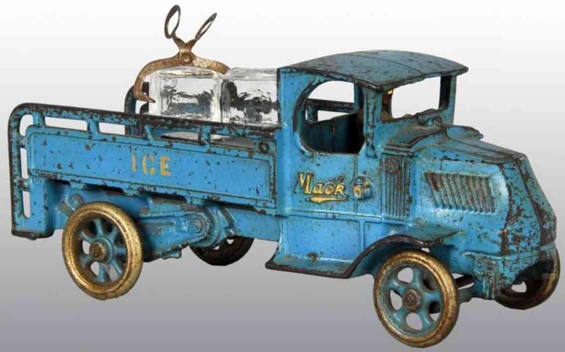 arcade ice spielzeug gusseisen eiswagen mack blau
