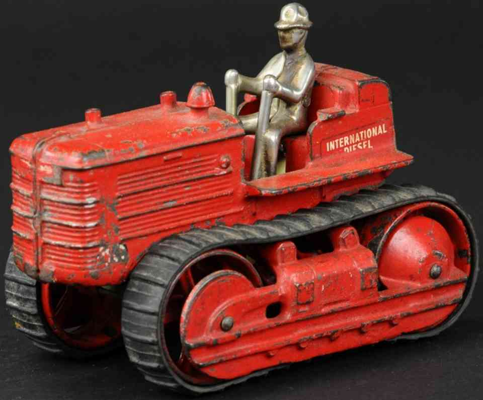 arcade spielzeug gusseisen internationaler traktor rot