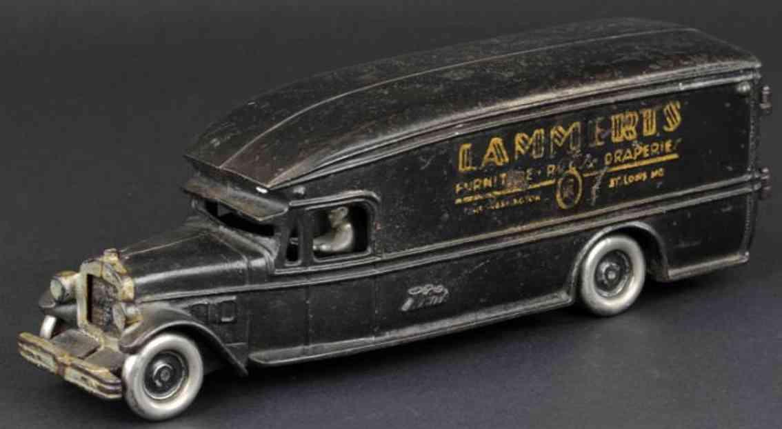 arcade spielzeug gusseisen moebelwagen schwarz lammerts