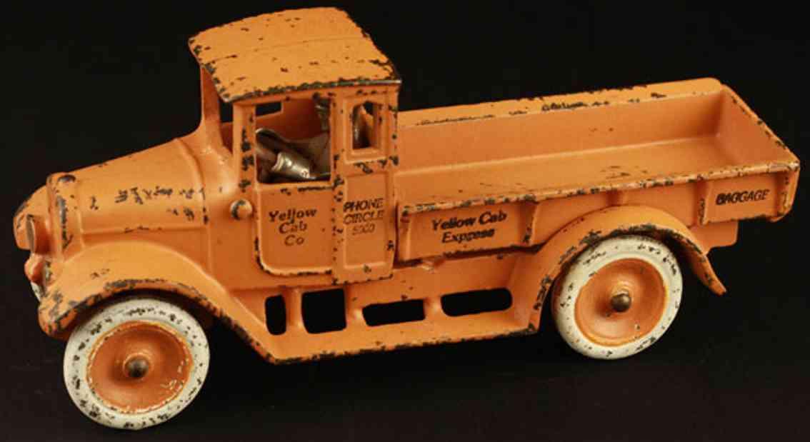 arcade baby truck 10 spielzeug gusseisen lastwagen orange