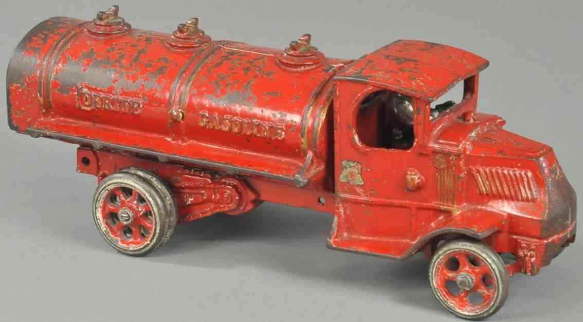 arcade lubrite classics spielzeug gusseisen mack benzinlastwagen rot