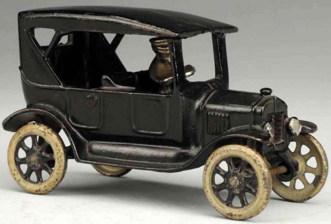 arcade spielzeug gusseisen auto modell t schwarz